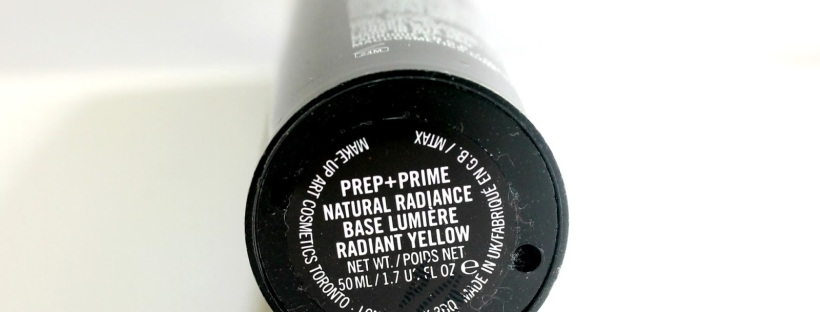 mac prep and prime radiance primer review