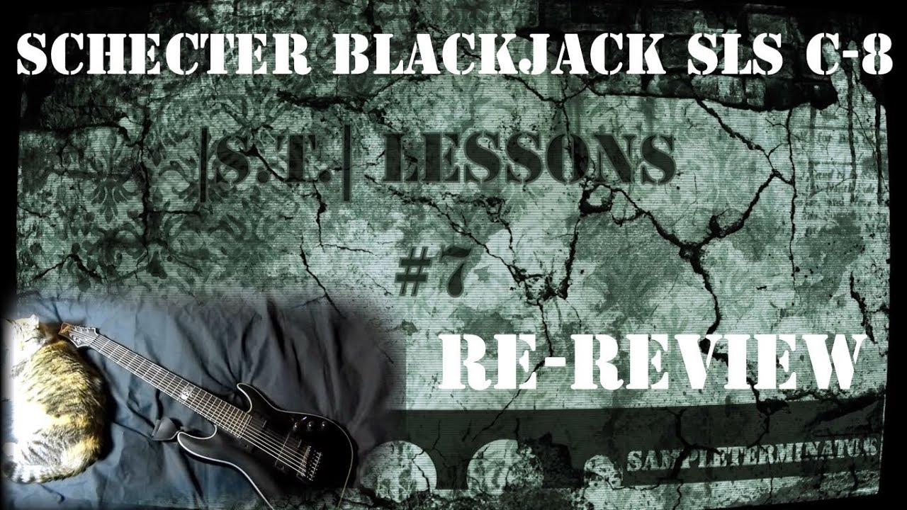 schecter blackjack sls c 8 review