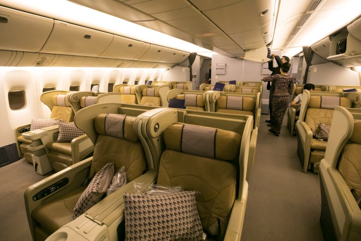 singapore airlines business class review brisbane to singapore