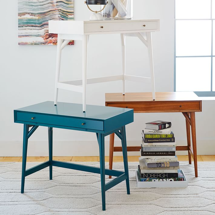 west elm mid century mini desk review
